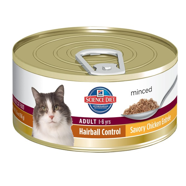 Hill's Science Diet Minced Adult 1-6 Years Hairball Control Savory Chicken Entree