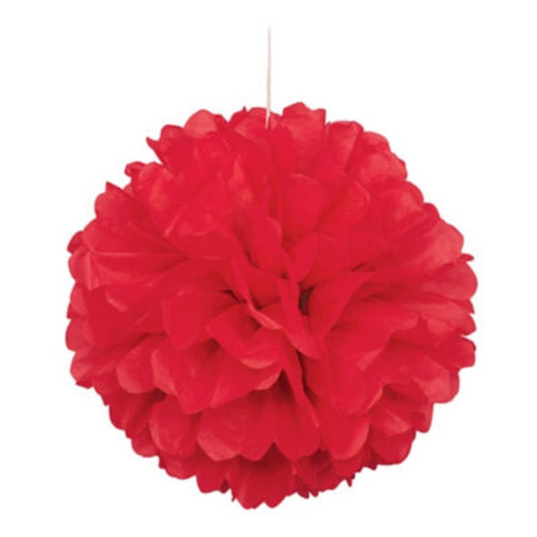 Unique Red Puff Decor 16 In.