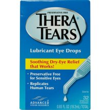 Thera Tears Lubricant Eye Drops Single Use Containers, 0.02 Fl Oz, 32 Ct