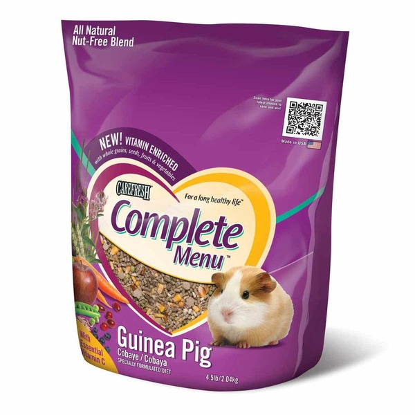 Carefresh Complete Menu Guinea Pig With Essential Vitamin C Specially Formulated Diet
