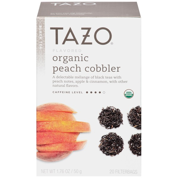Tazo Tea Organic Peach Cobbler Black Tea Tea Bags