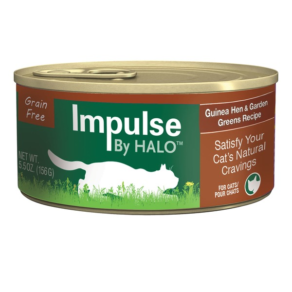 Halo Impulse Guinea Hen & Greens Canned Cat Food Case Of 12