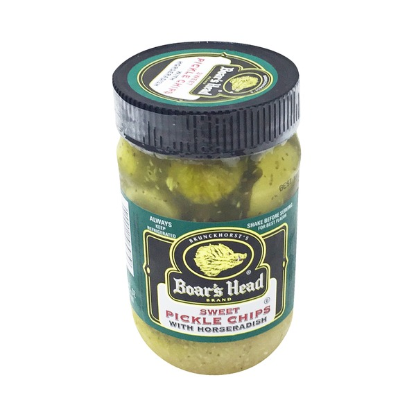 Boar's Head Sweet Pickle Chips With Horseradish