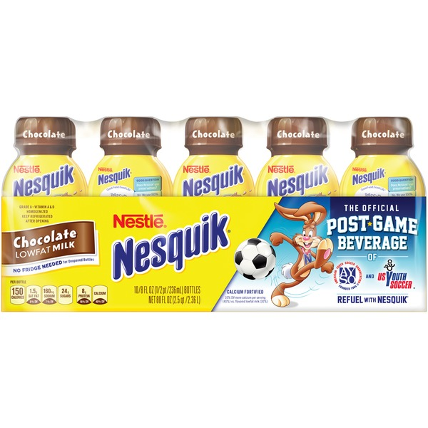 Nestle Nesquik Chocolate Flavored Low Fat Milk 1%