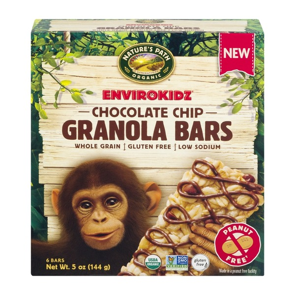 EnviroKidz Nature's Path Organic EnviroKidz Chocolate Chip Granola Bars - 6 CT