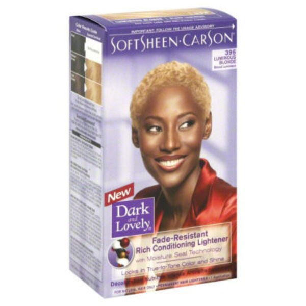 Dark and Lovely Fade Resistant Rich Conditioning Color 396 Luminous Blonde Hair Color