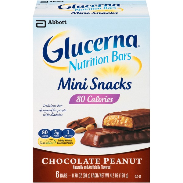 Glucerna Chocolate Peanut Mini Snacks Nutrition Bars