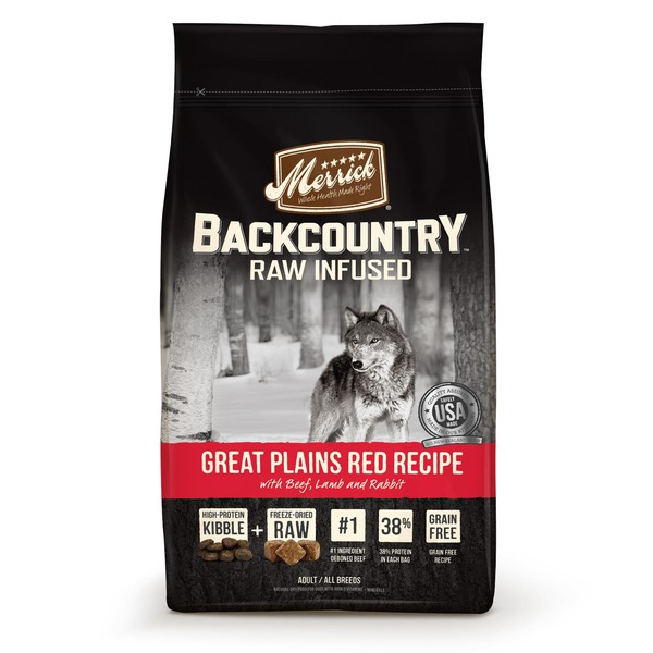 Merrick Backcountry Raw Infused Great Plains Red Recipe With Beef, Lamb and Rabbit