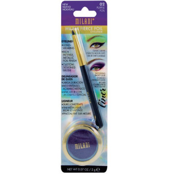 Milani Fierce Foil Eyeliner, Purple Foil