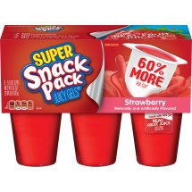 Snack Pack Strawberry Gels, 5.5 Ounce (6 Count)