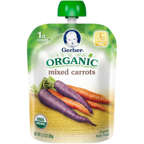 Gerber Organic 1 St Foods Organic Mixed Carrots Baby Food