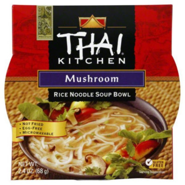Thai Kitchen Mushroom Rice Noodle Soup Bowl