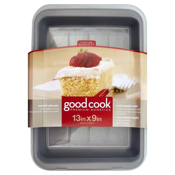 Good Cook Pro Cake Pan, Premium Nonstick, Covered, Sleeve