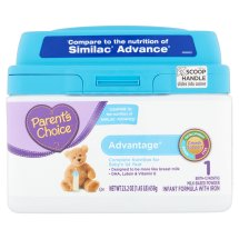 Parent's Choice Advantage Infant Formula with Iron, 23.2oz