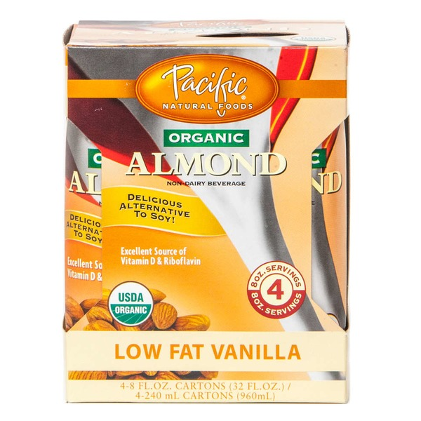 Pacific Natural Organic Low Fat Vanilla Almond Milk