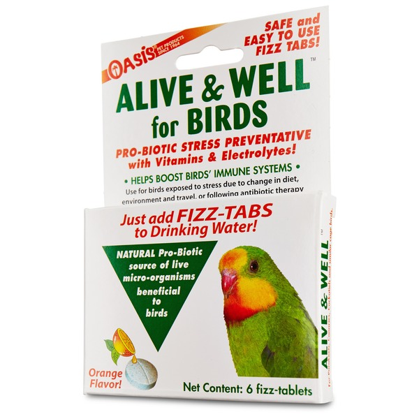 Oasis Alive & Well Probiotic Bird Water Tablets Pack Of 6 Tablets
