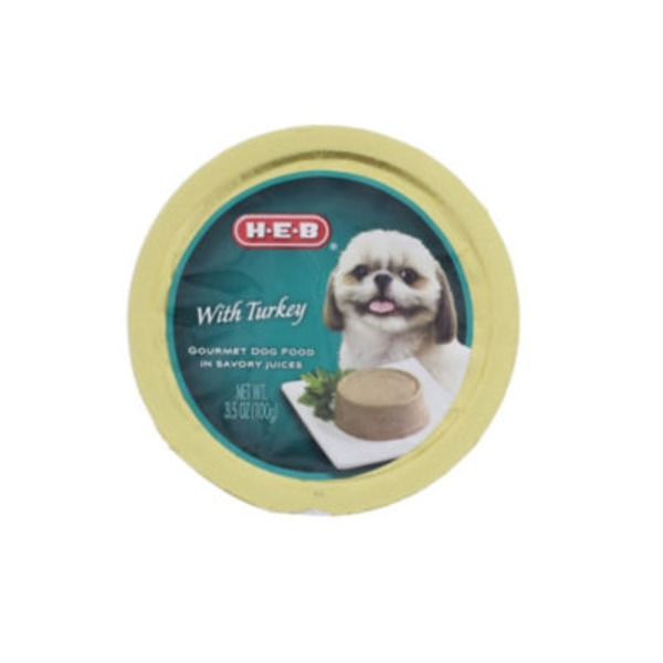 H-E-B Gourmet Dog Food, Turkey
