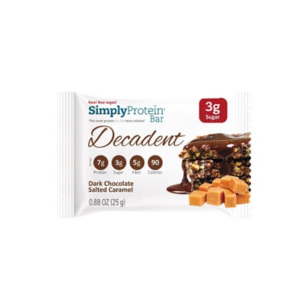Simply Protein Dark Chocolate Salted Caramel Decadent Bar