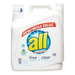 all with Stainlifters Free Clear Liquid Laundry Detergent, 184.5 fl oz