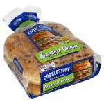 Cobblestone Sliced Rolls, Toasted Onion, 8 ct, 15 oz