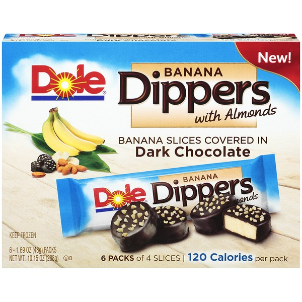 Dole Banana Dippers with Almonds Banana Slices