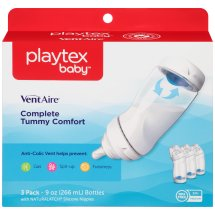 Playtex Baby VentAire Advanced Wide Baby Bottles - 9oz, 3pk