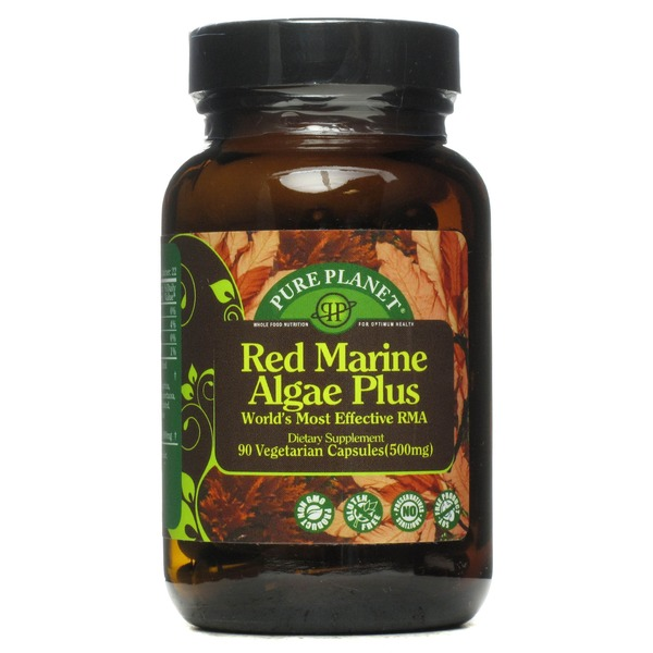 Pure Planet Red Marine Algae Plus 500 Mg Vegetarian Capsules
