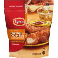 Tyson Frozen Breaded Fully Cooked Honey BBQ Flavored Chicken Strips