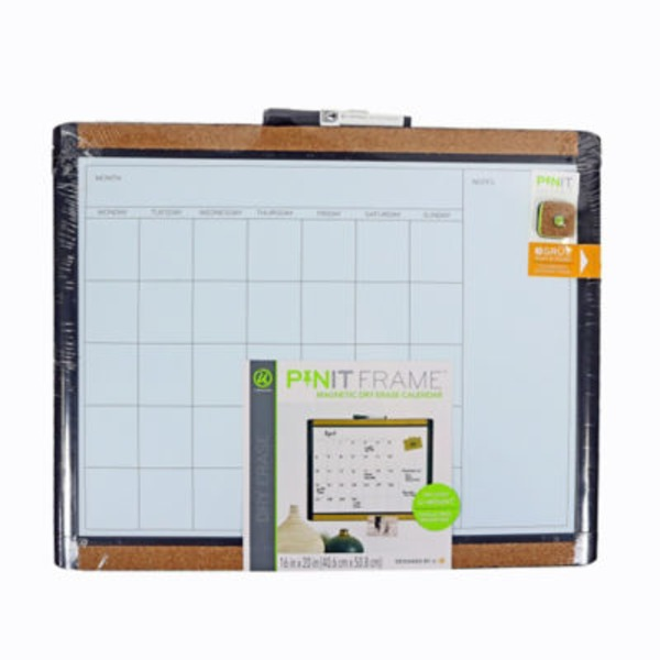 U Brands Pin It Dry Erase Calendar 16