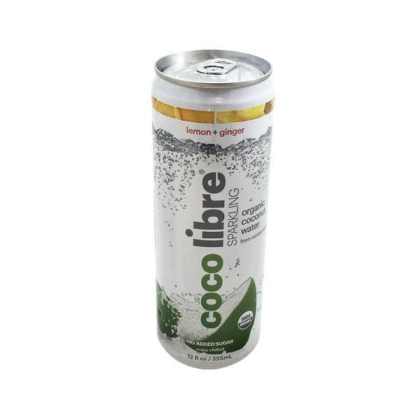 Coco Libre Organic Sparkling Lemon Ginger Coconut Water
