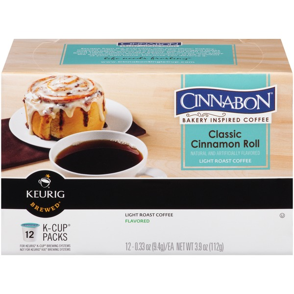 Cinnabon Classic Cinnamon Roll K-Cup Packs Coffee