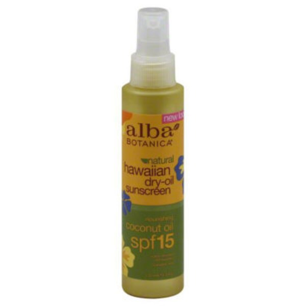 Alba Botanica Hawaiian Dry Oil Natural Sunscreen coconut oil SPF 15
