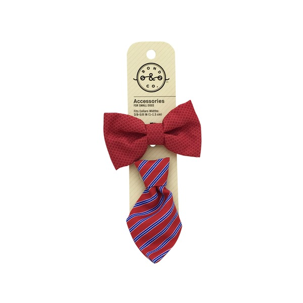 Bond & Co. Bowtie Tie Set Red