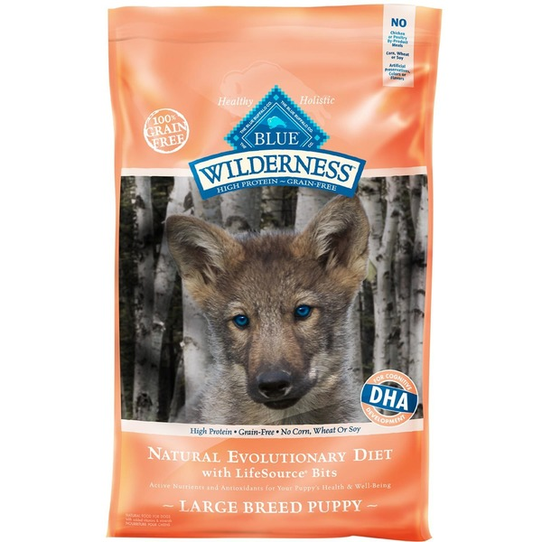 Blue Buffalo Dog Food, Dry, Wilderness, Large Breed Puppy, Bag
