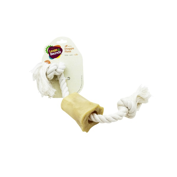 Leaps & Bounds White Cotton Tug With Bone