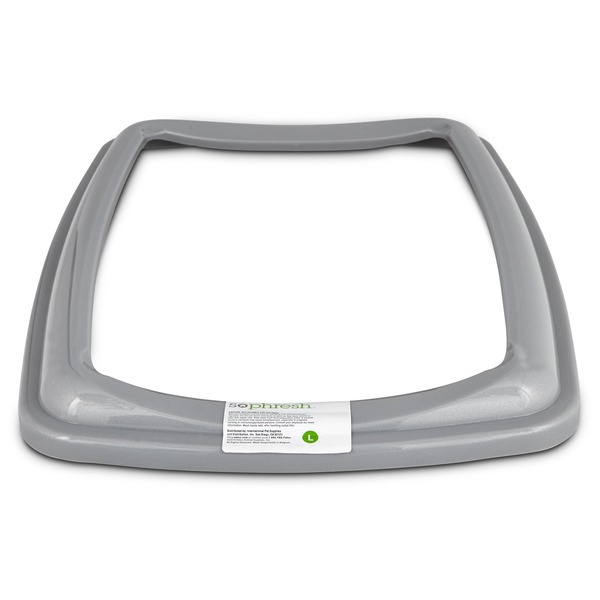 So Phresh Gray Large Open Litter Box Rim