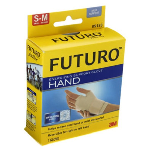 Futuro Hand Support Glove, Mild Support, Small - Medium