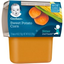 Gerber 2nd Foods Sweet Potato Corn, 4 Ounce Tubs, 2 Count