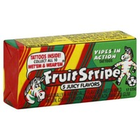 Fruit Stripe Chewing Gum Sticks