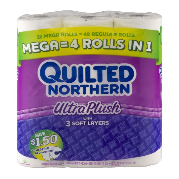 Quilted Northern Unscented Bathroom Tissue Ultra Plush - 12 CT