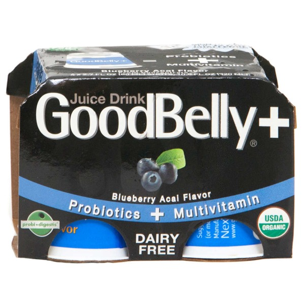 GoodBelly PlusShot Blueberry Acai Probiotic Juice Drink