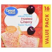 Great Value Frosted Toaster Pastries, Cherry, 16 Count