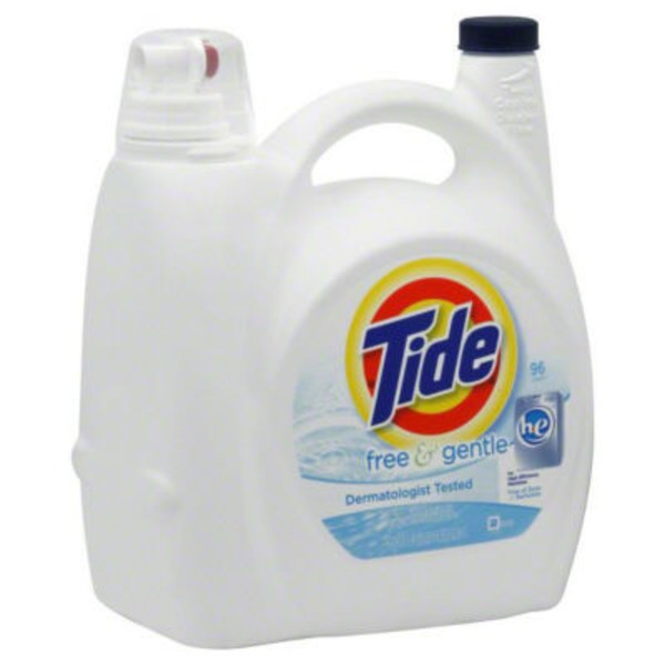 Tide Free and Gentle HE Liquid Laundry Detergent 96 Loads 150 Fl Oz Laundry