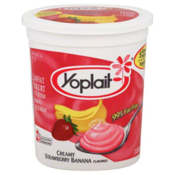 Yoplait Original Smooth Style Strawberry Banana Flavored Low Fat Yogurt
