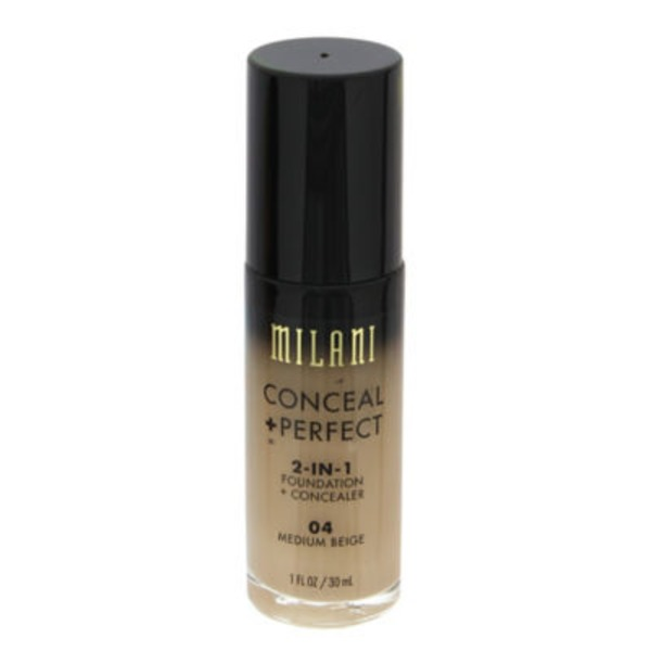 Milani 04 Medium Beige Conceal + Perfect 2 In 1 Foundation + Concealer