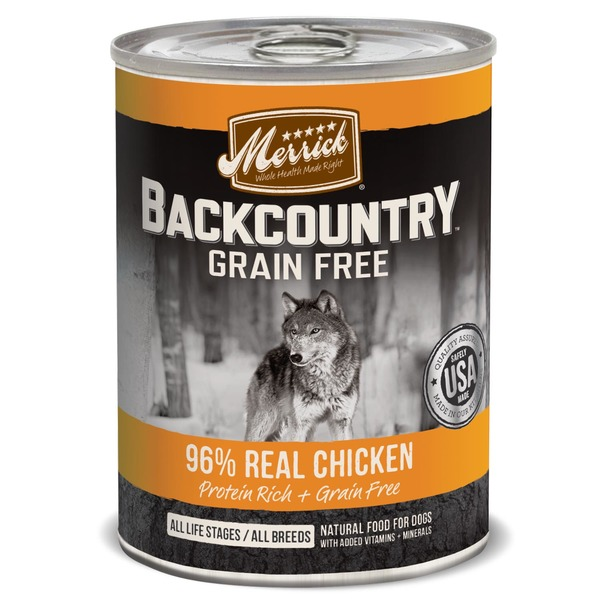 Merrick Backcountry Grain Free 96% Real Chicken Dog Food