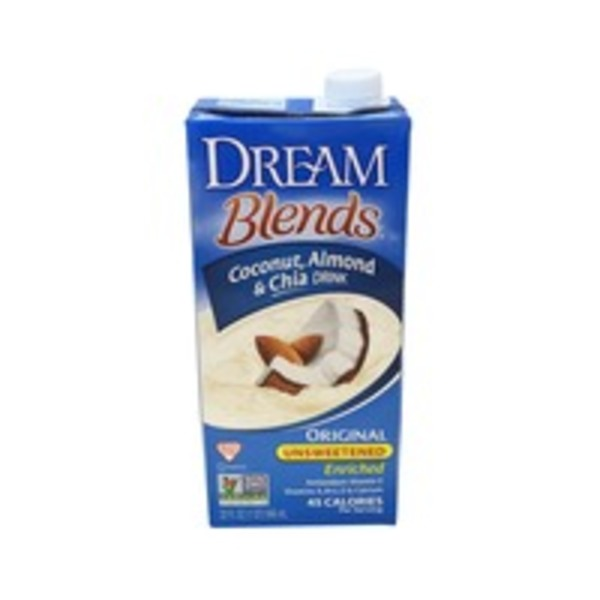 Dream Blends Original Unsweetened Coconut, Almond, and Chia Drink