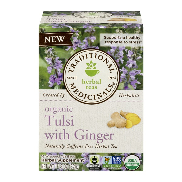 Traditional Medicinals Tea Tulsi with Ginger - 16 CT