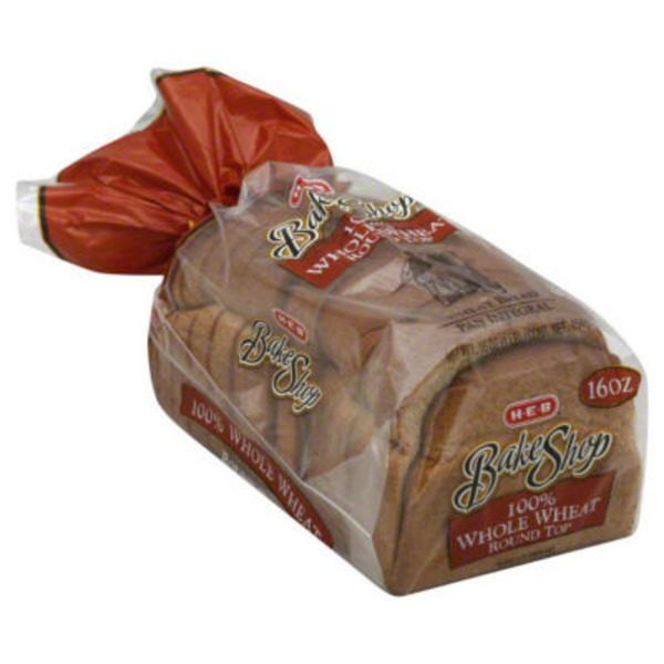 H-E-B Bake Shop 100% Whole Wheat Round Top Bread