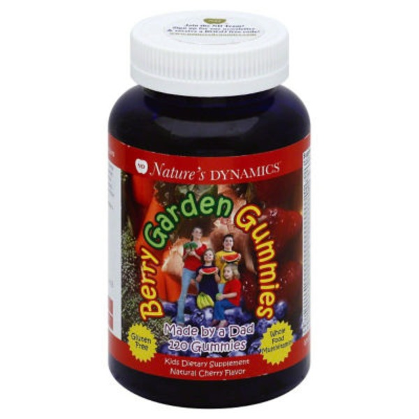Nature's Dynamics Multivitamin, Whole Food, Gummies, Berry Garden